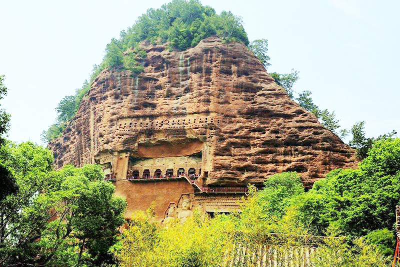 the Maijishan Grottoes in tianshui