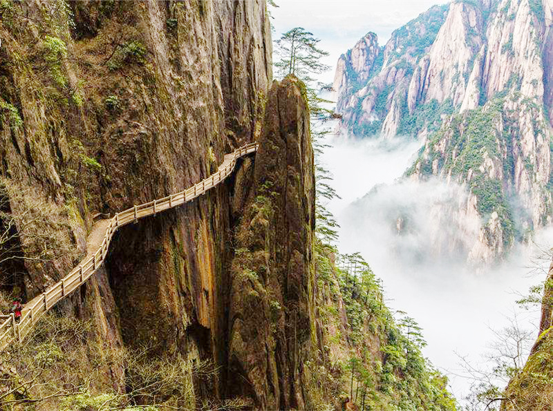 the West Sea Grand Canyon in huangshan
