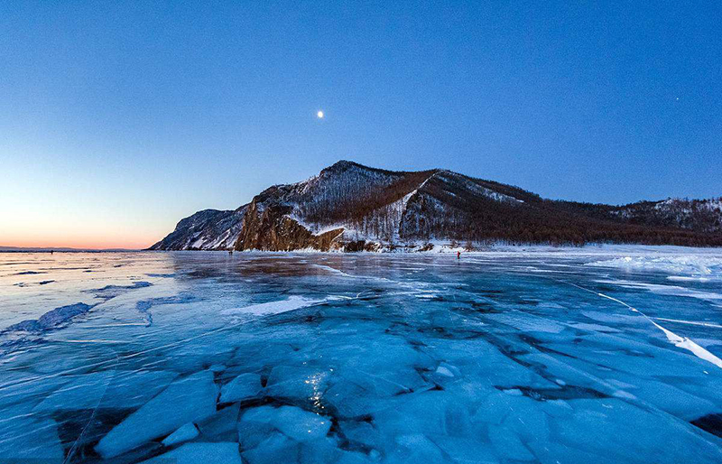Olkhon Island blue ice